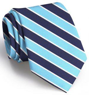 Charles: Tie - Navy/Aqua