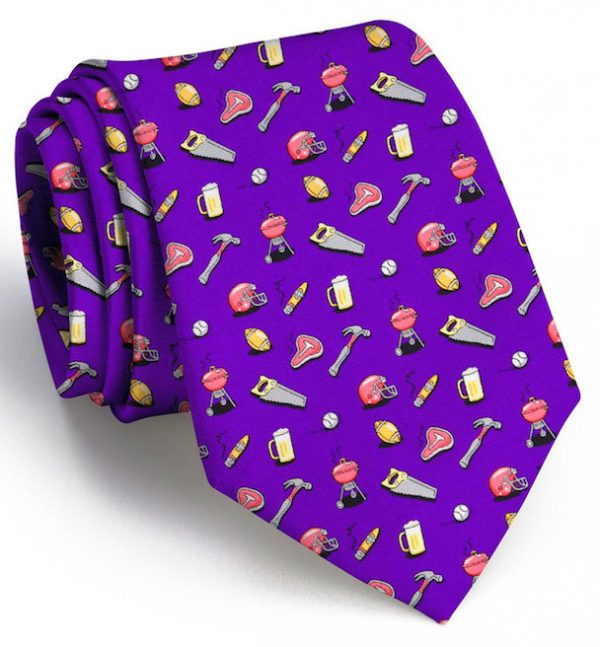 Guy Tie: Extra Long - Purple
