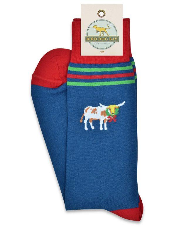 Christmas Cattle: Socks - Navy