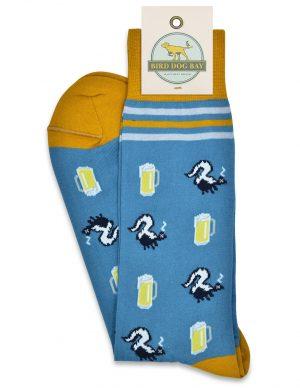 Drunk as a Skunk: Socks - Blue