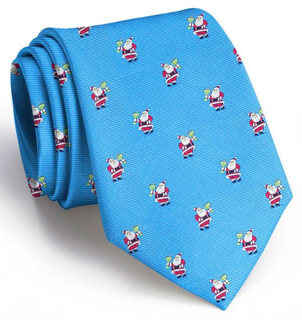 Cocktail Kringle Club Tie: Tie - Light Blue