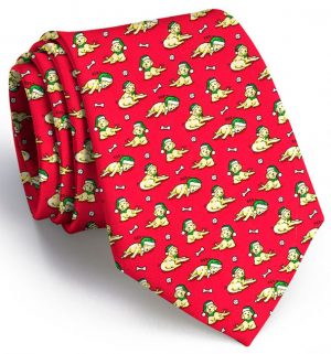 Santa Paws: Tie - Red/Yellow