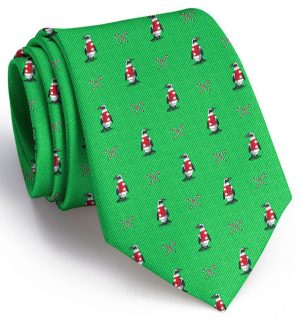 North Pole Parade Club Tie: Extra Long - Green