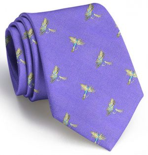 Royal Wulff Club Tie: Extra Long - Purple