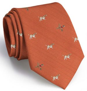 Pointer Club Tie: Extra Long - Orange