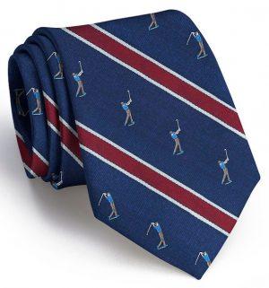 Big Swing Club Tie: Extra Long - Navy