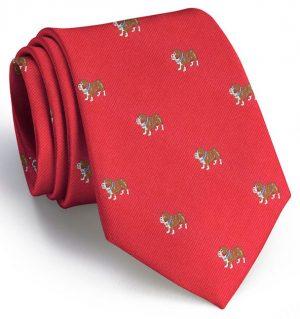 Bulldog Club Tie: Extra Long - Red