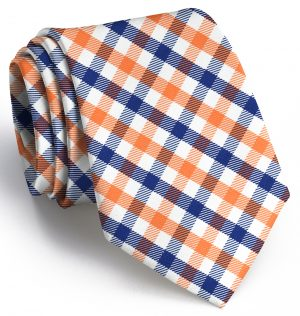 Collegiate Quad: Tie - Orange/Navy