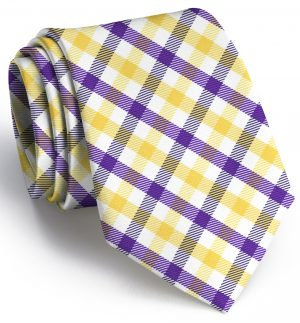 Collegiate Quad: Tie - Purple/Yellow