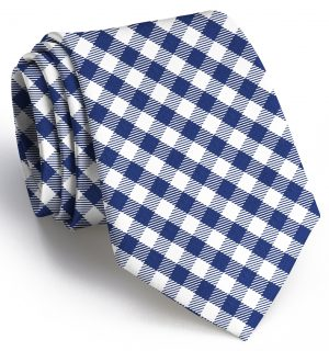 Collegiate Quad: Tie - Navy/White