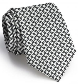 Gatsby Houndstooth: Tie - Black/White