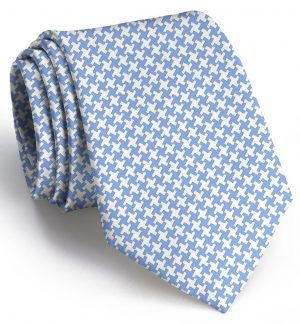 Gatsby Houndstooth: Tie - Light Blue