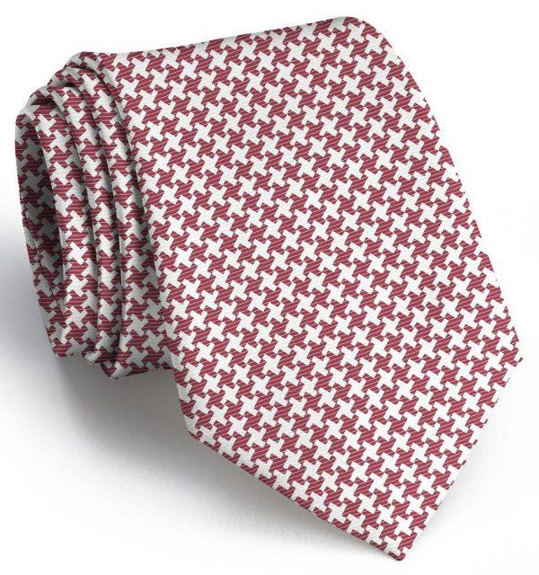Gatsby Houndstooth: Tie - Crimson