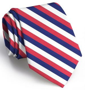 USA Stripes: Tie - Red/White/Blue