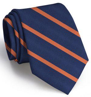 Stowe: Tie - Navy/Orange