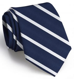 Stowe: Tie - Navy/White
