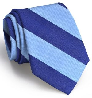 Benthaven: Tie - Light Blue/Navy