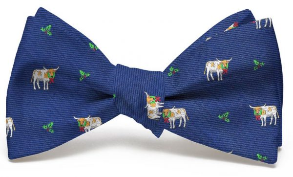 Christmas Cattle Club: Bow - Navy