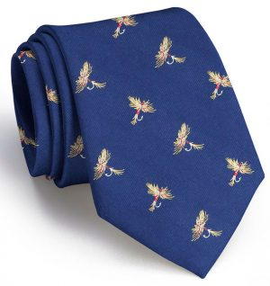 Royal Wulff Club Tie: Boys - Navy