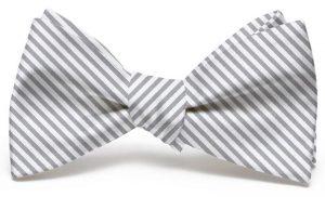 Signature Stripe: Bow - Gray