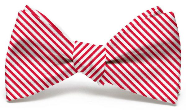 Signature Stripe: Bow - Red