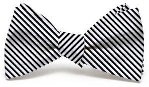 Signature Stripe: Bow - Black