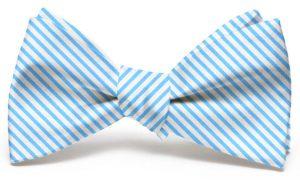 Signature Stripe: Bow - Light Blue