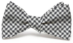 Gatsby Houndstooth: Bow - Black