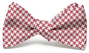 Gatsby Houndstooth: Bow - Crimson