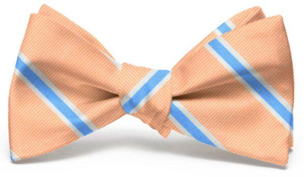 James: Bow - Peach/Blue
