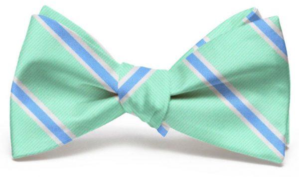 James: Bow - Mint/Blue