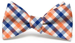 Collegiate Quad: Bow - Orange/Blue