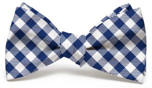 Collegiate Quad: Bow - Navy/White
