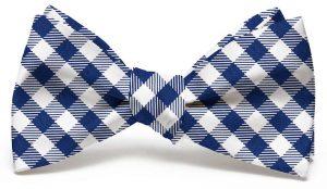 Collegiate Quad: Bow - Navy/White