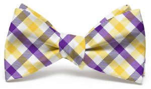 Collegiate Quad: Bow - Purple/Yellow