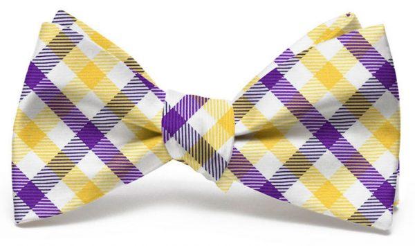 Collegiate Quad: Bow - Purple/Yellow