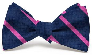 Stowe: Bow - Navy/Pink