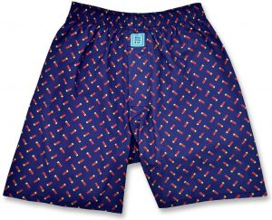 Sittin' Shotgun: Boxers - Red/Navy