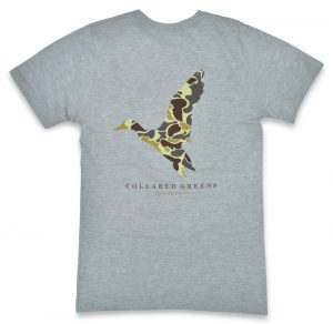 Camo Mallard: Short Sleeve T-Shirt - Gray