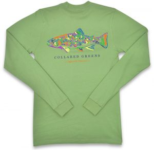 Rainbow Trout: Long Sleeve T-Shirt - Mint
