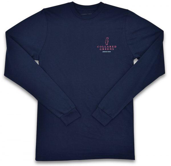 Blue Crab: Long Sleeve T-Shirt - Navy