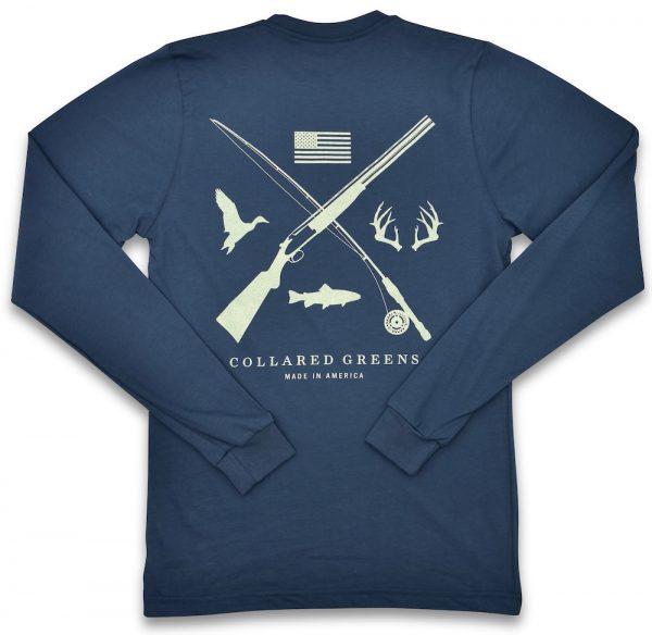 Field & Stream: Long Sleeve T-Shirt - Steel Blue