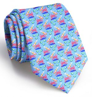 Drunken Crab: Tie - Light Blue