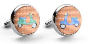 Vespas: Cufflinks - Orange