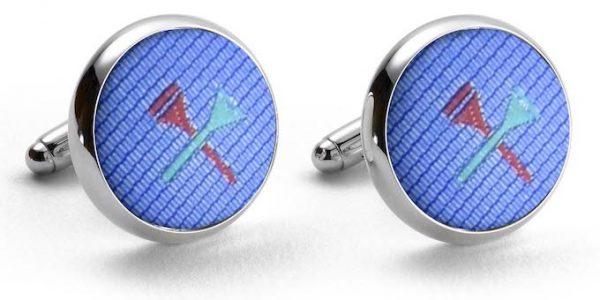 Tee Time: Cufflinks - Light Blue
