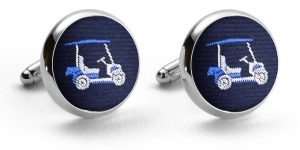Golf Cart: Cufflinks - Navy