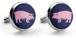 Pigs: Cufflinks - Navy