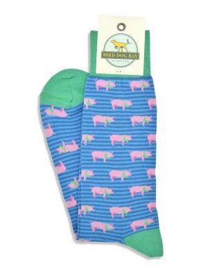 Dapper Pigs: Socks - Blue