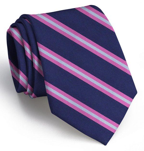 Berkshire: Tie - Navy/Pink