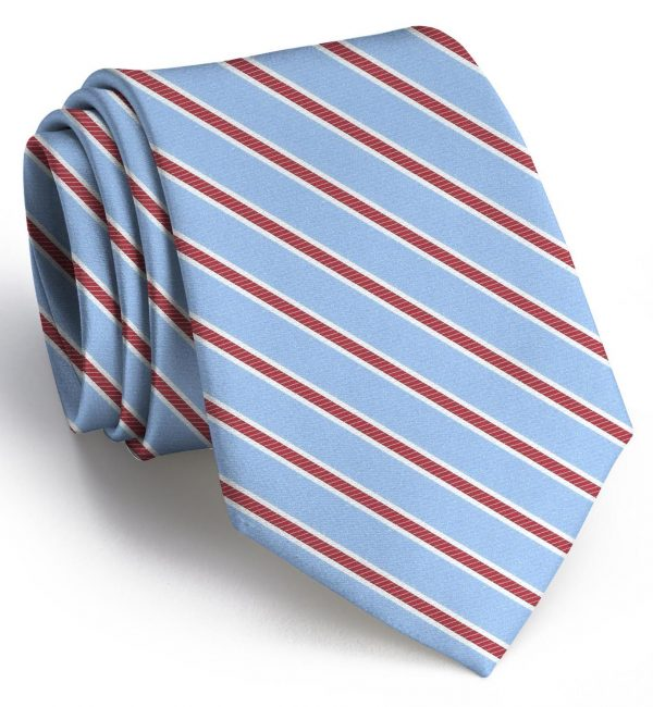 Whitman: Tie - Light Blue/Red